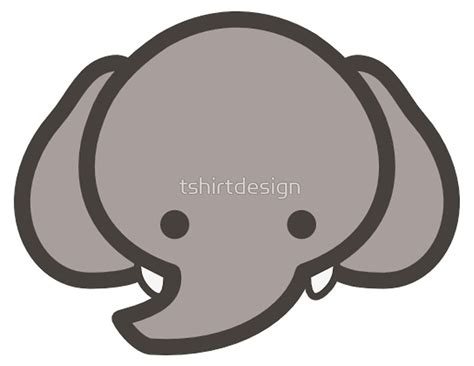 baby elephant head clipart black  white clipground