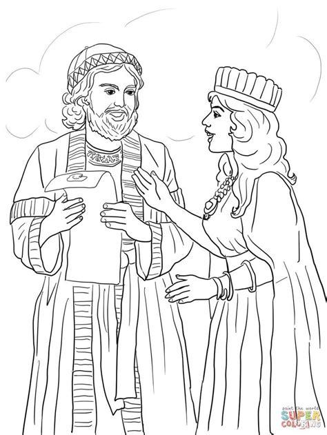 esther  mordecai  kings edict super coloring      super coloring