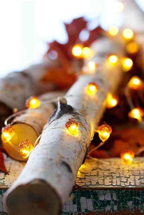 fall decorating ideas adding light   long fall