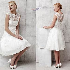newest style custom lace coat white ivory satin knee With knee length lace wedding dress