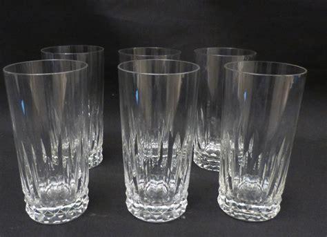 baccarat 6 verres drink ou whisky en cristal taill 233 verres 224 vin services verres anciens
