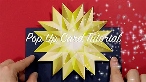 minute christmas pop  card tutorial youtube