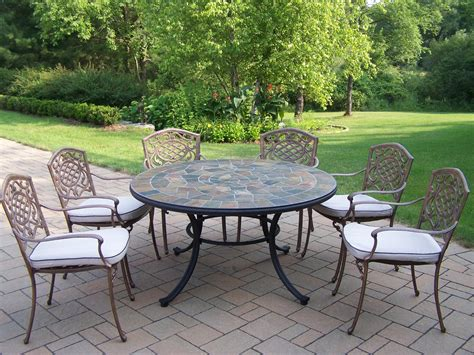 "Oakland Living 7 Pc Patio Dining Set W 54"" Stone Topped. Best Pavers For Patio. Amazon Patio Lawn And Garden. Backyard Stone Patio Pictures. Patio Trellis Plans. Patio Furniture Styles. Patio Framing Plans. Pvc Patio Furniture Cushions. Backyard Landscaping Ideas For Dogs"
