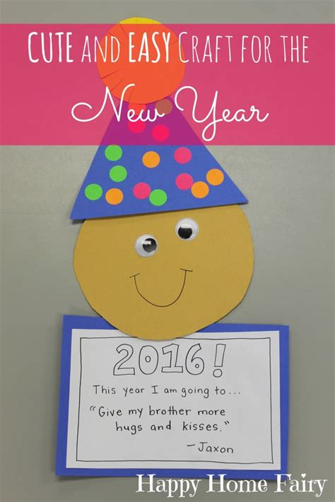 easy new year s craft for preschoolers happy home 731 | Love this CUTE and EASY craft for the New Year I cant wait to see what my students resolve ha 683x1024