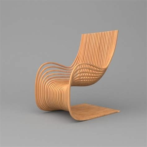 wooden parametric chair  model cgtrader