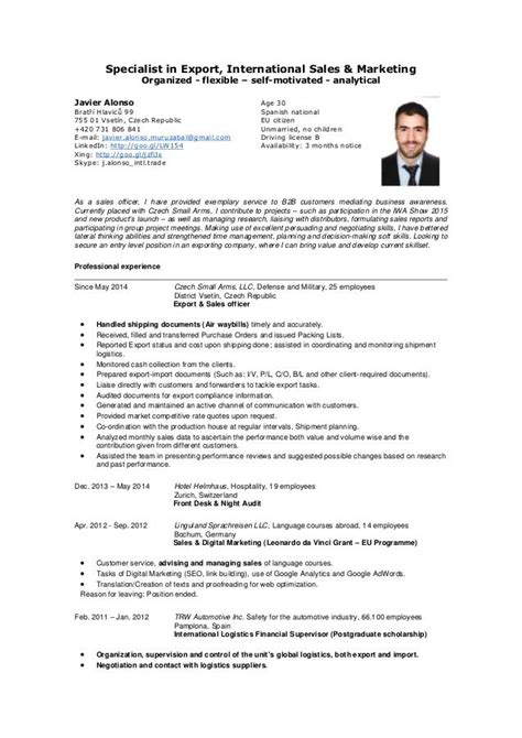 Current Cv Sles by Exle Resume Objective Curriculum Vitae Exemple Top