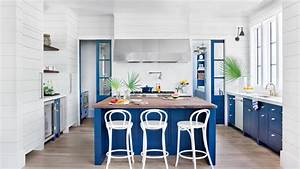 kitchen inspiration southern living With kitchen colors with white cabinets with cobalt blue glass candle holders