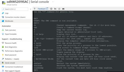 Using the Serial Console on Windows IaaS VMs - Dr. Ware ...
