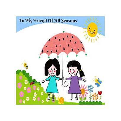 Friend Friends Seasons Friendship Happy Card Cards