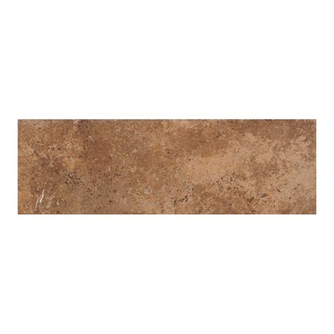 American Olean Glass Tile Trim by Shop American Olean Vallano Caramel Ceramic Bullnose Tile