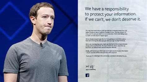 Facebook CEO Mark Zuckerberg apologises to users with full ...
