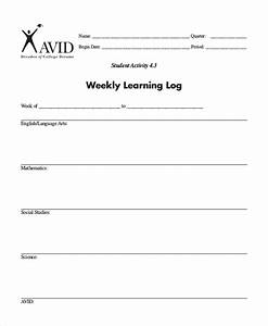 learning log template 10 free word excel pdf document With avid learning log template