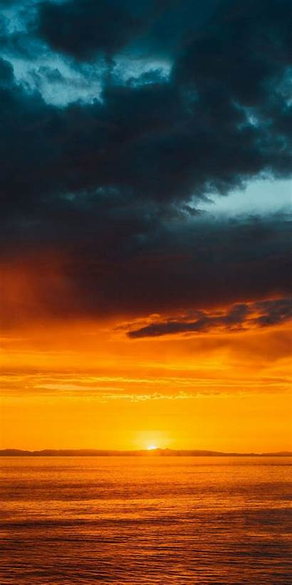 Sea Nature Horizon Sunset Clam Clouds Honor