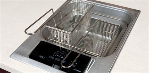 built in fryer the future of lighting universal and kitchen design