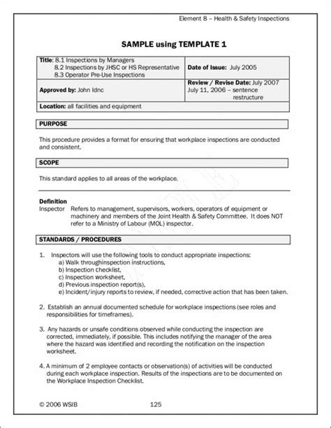 23+ Inspection Checklist Samples & Templates  Pdf, Word