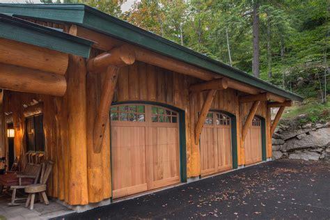 Big Moose, New York Log Home   Rustic   Garage   New York