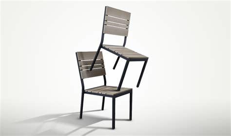 chaises de jardin en soldes 2 chaises de jardin bois composite mobilier