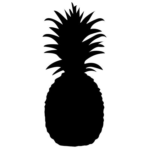pineapple top silhouette pineapple silhouette clipart clipartxtras