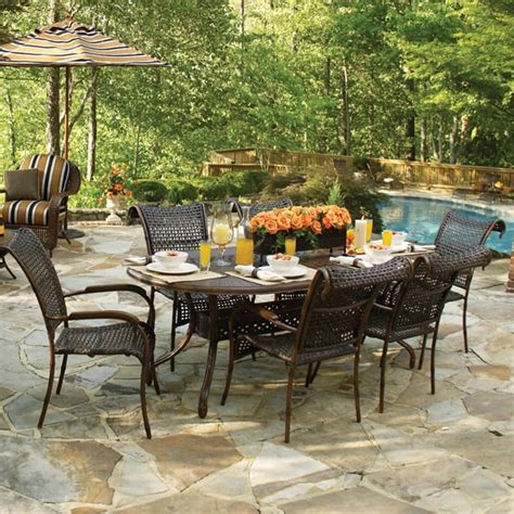 coral bay all weather woven dining set summer classics