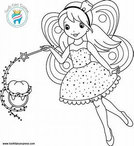 Tooth Fairy Coloring Pages pertaining to Motivate in ...