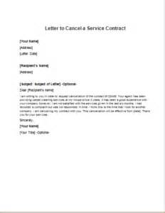letter to cancel a service contract