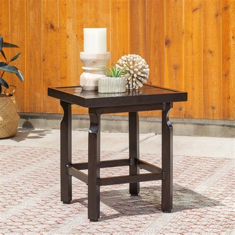 I ended up not completeing my purchase because i got gun shy on the couch i chose, and took a cooling off period. La-Z-Boy Colton Outdoor Metal Side Table   Wayfair