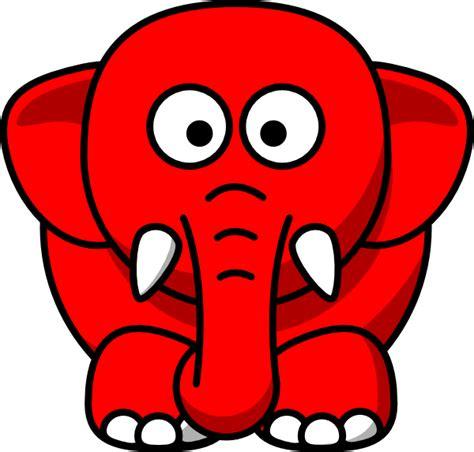 red elephant clip art  clkercom vector clip art