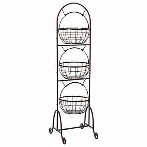 3 Tier Wire Market Basket - Pfaltzgraff