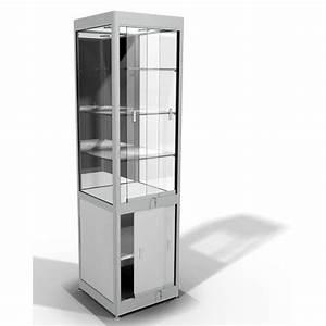 Meuble Avec Vitrine : meuble vitrine d 39 exposition en verre avec espace de stockage ~ Teatrodelosmanantiales.com Idées de Décoration