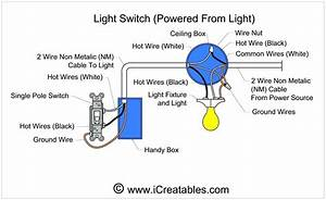 Single Light Switch Wiring Diagram Power In
