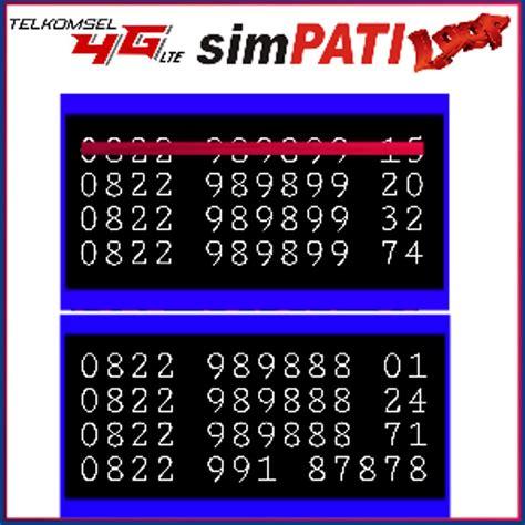 jual nomor cantik perdana simpati loop 4g lte seri angka besar rapih 0822 989888 xx di lapak