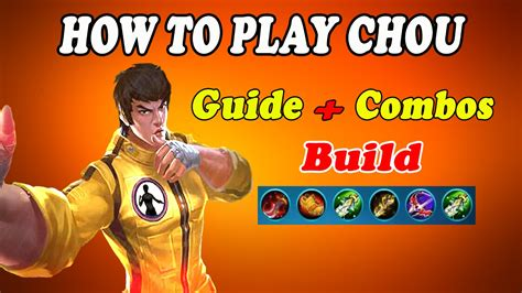 chou mobile legend mobile legends chou dmg guide combos favourite