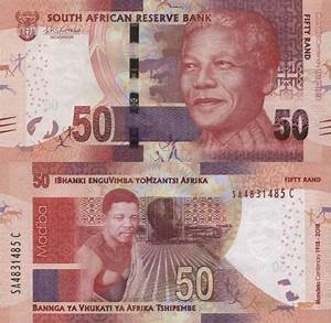 South Africa 50 Rand 2018 new banknotes to commemorate the ...