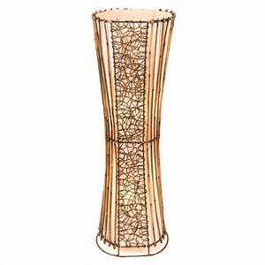 oval rattan wicker floor lamp 100cm With floor lamp 100cm