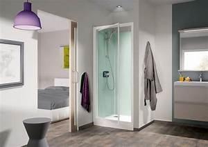 Cabine de douche kineprime glass c niche 90x90 porte for Porte douche 90x90