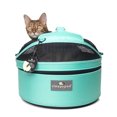 sleepypod mobile pet carrier bed robin egg blue with