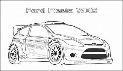 Coloring Pages Ford Race Fiesta Wrc Sports
