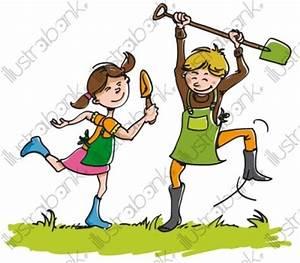 Jardin Dessin Couleur : enfants au jardin illustration autre libre de droit sur ~ Melissatoandfro.com Idées de Décoration