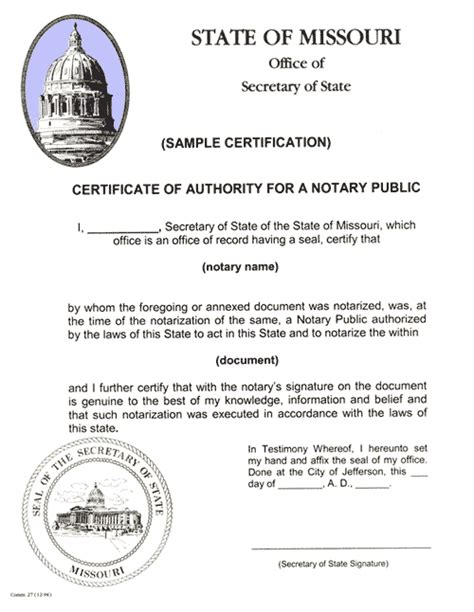 certification authentication apostilles