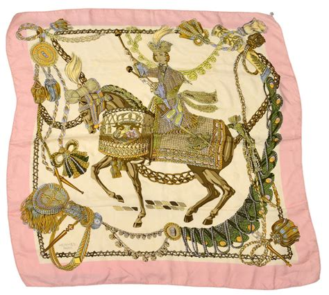 hermes le timbalier silk scarf holiday estates auction