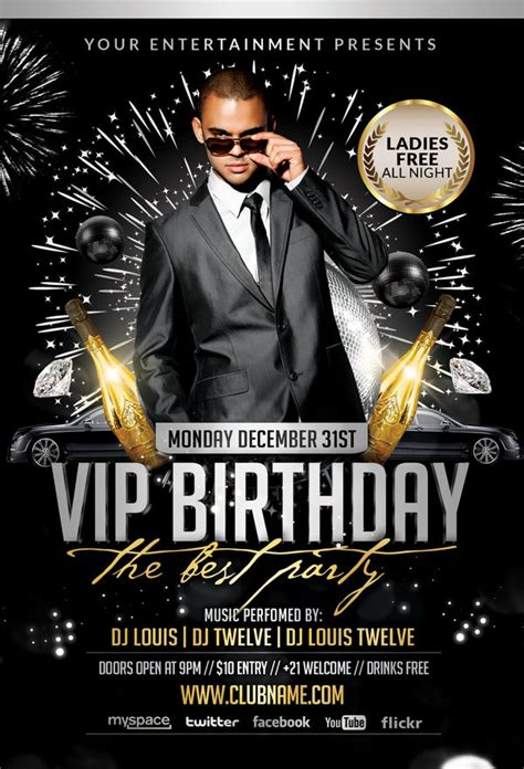 Car Wallpapers Free Psd Flyer by Welcome 2013 Vip Birthday Flyer Cover
