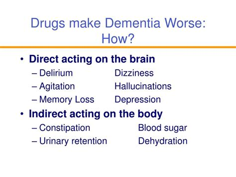 Ppt Drug Induced Dementia Proceed With Caution