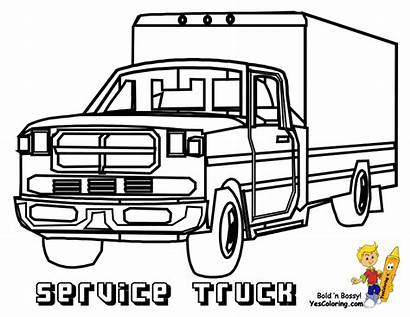 Coloring Trucks Service Pages Rig Rigs Template