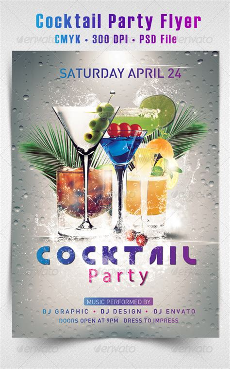 Cocktail Party Flyer By Hdesign85 Graphicriver