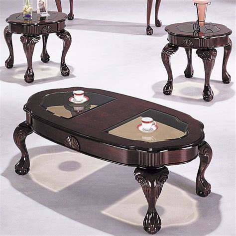 It is made of wood and covered with white coat of lacquer. Homeroots Cherry Wood Glass Top 3pc Coffee Table Set | The Classy Home