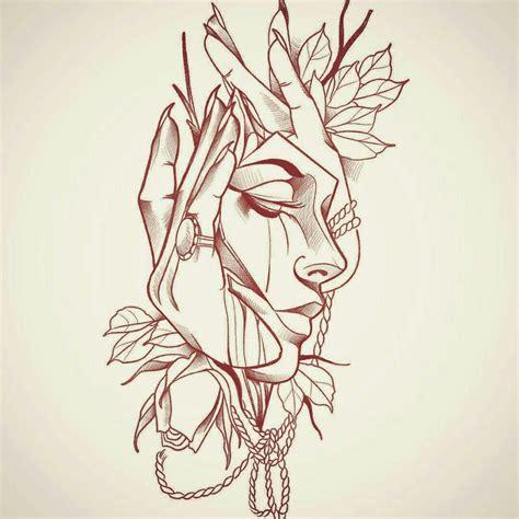 Interessante Ideenunterarm Taetowierung Gesicht by Pin Darkzero Auf Zeichnungen