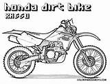 Dirt Coloring Bike Pages Honda Bikes Printable Sketch Colouring Motorbikes Motorcycle Template Clipart Printables Moto Rider Boys Bicycle Adults Mx sketch template