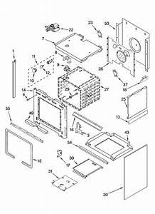 Oven Parts Diagram  U0026 Parts List For Model Gw395lepb00