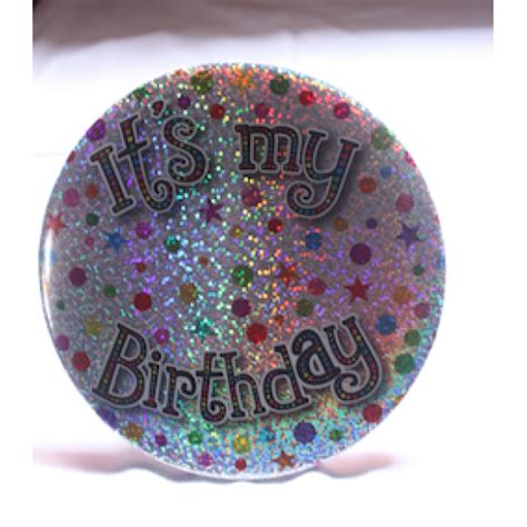 birthday badge silver