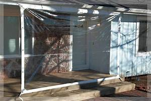 24 Mil Clear Patio Enclosure Tarp Smooth Glass Vinyl Fire